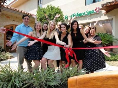 ribbon cutting Westlake Texas Face to Face spa